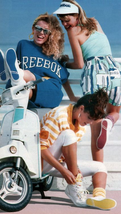 Reebok, Seventeen magazine, June 1987. These look like the predecessors to the little bitches at my florida high school. I did wear high top sneakers from the mid-80's thru the early 90's.