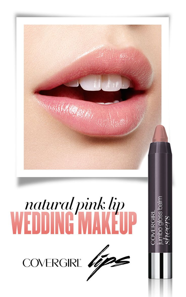 Follow this easy step-by-step guide to creating a natural pink lip on your wedding day using COVERGIRL Jumbo Gloss Balm Sheers in