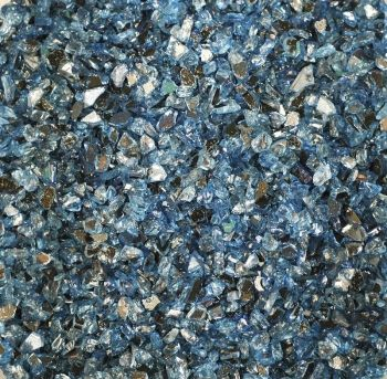 Granule ze zrcadlového skla 400g - modré č. MD190