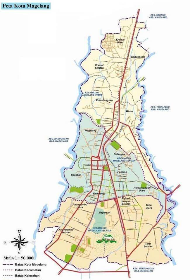 Gambar Peta Kota Magelang Provinsi Jawa Tengah Lengkap Dan Terbaru Ukuran Besar Hd Meliputi Peta Administrasi Wisata Jalan Dan Keter Peta Kota Peta Gambar