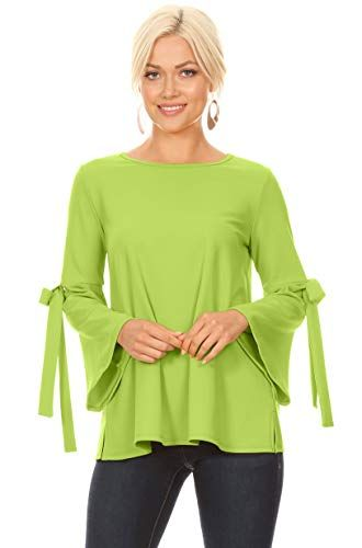 70103f0b03c835 Flowy Dressy Tops for Women with Bow Sleeves Reg and Plus Size - Made in  USA