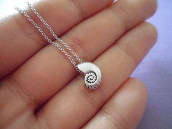 Ariel Voice - seashell antique silver necklace - minimal dainty jewelry @Alli Rense Rense Rense Rense