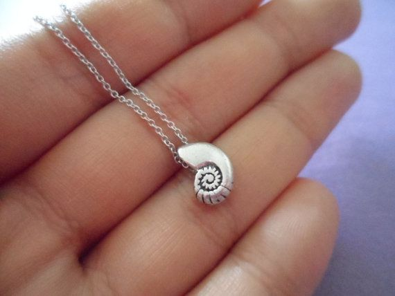 Ariel Voice - seashell antique silver necklace - minimal dainty jewelry @Alli Rense