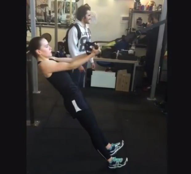 Daisy Ridley workout...