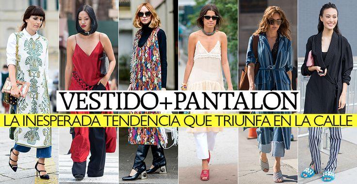 Vestido y pantalón: la inesperada tendencia que triunfa en la calle