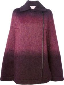 Fall and winter outfit. Giamba, Gradient cape.
