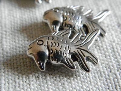 Pesciolini in metallo, distanziatori per braccialetti o collane