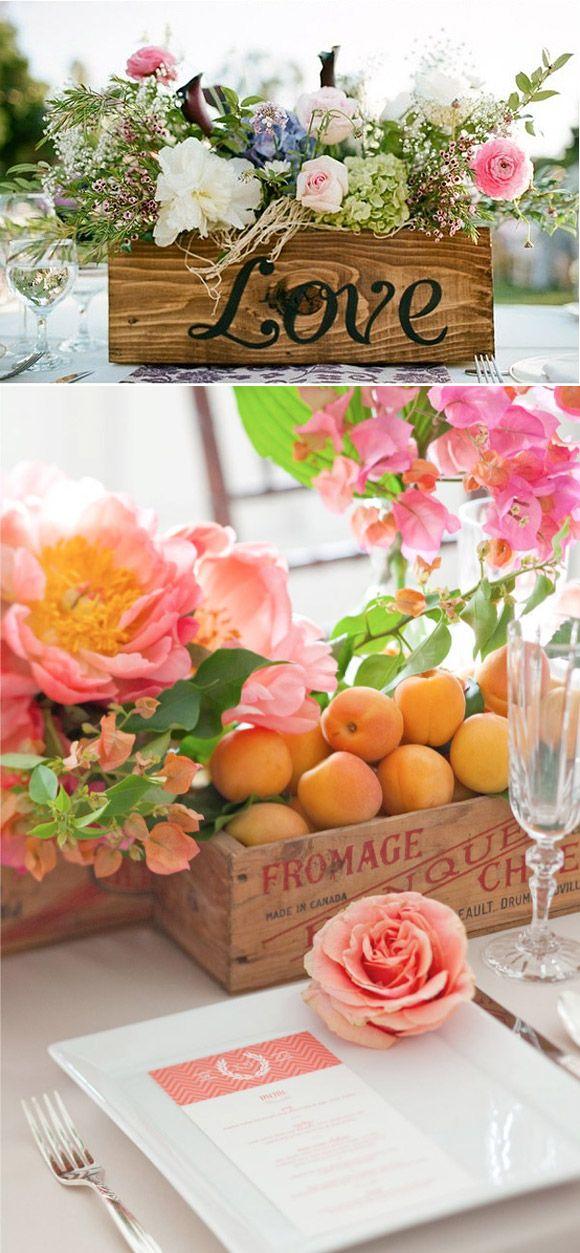 decoracin vintage para bodas cajas de madera