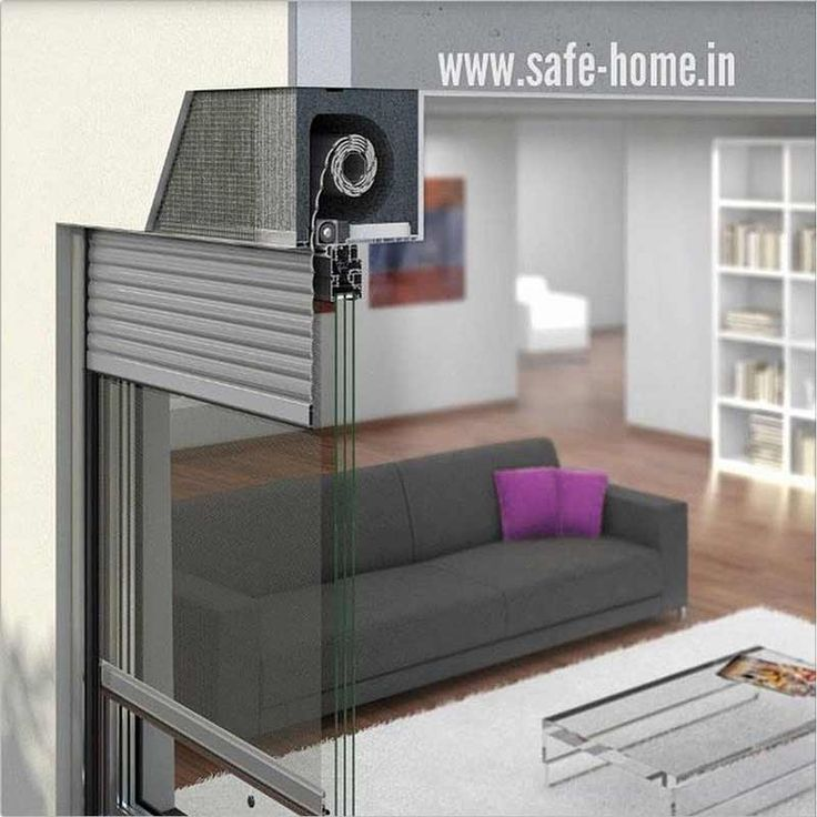 Schematic view of the inside of SafeHome Window Rolling Shutter