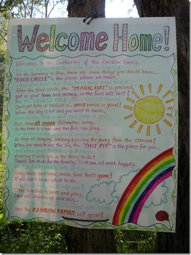 Rainbow Gatherings- Raibow Families -  welcome home...
