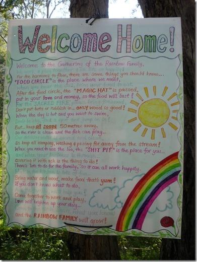 Rainbow Gatherings- Raibow Families -  welcome home...