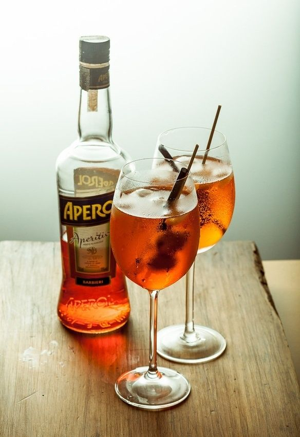 My signature cocktail: the spritz aperol.  Must have an olive. Must!