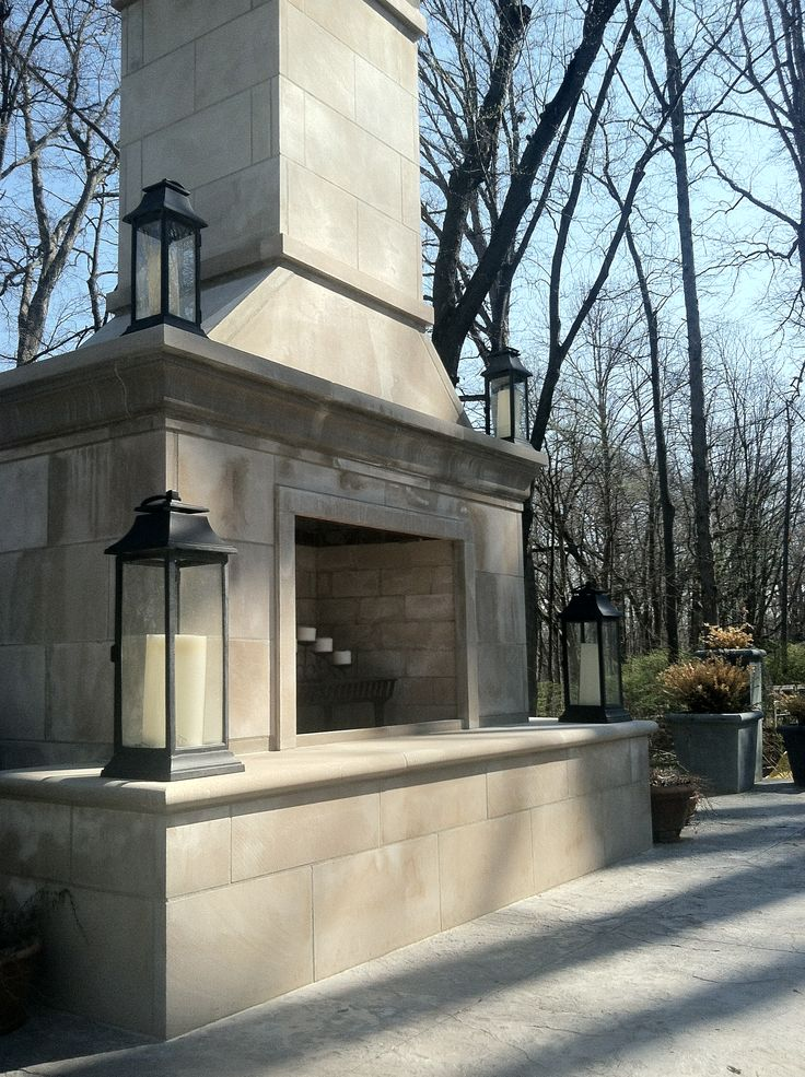 Indiana Limestone Outdoor Fireplace Fireplaces