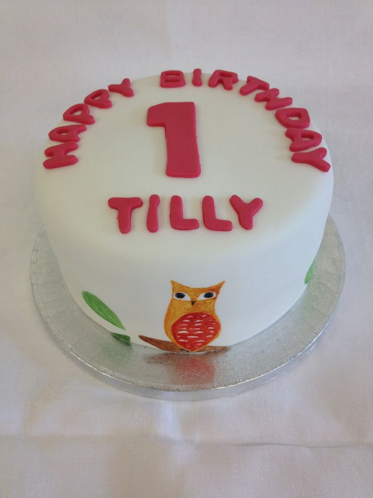 Hand painted birthday cake which took inspiration from a wall height chart