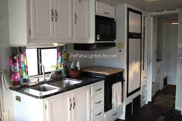 Wonderful Painted RV Kitchen Cabinets  MountainModernLifecom