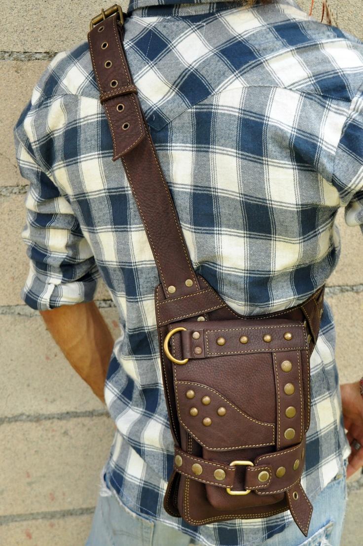 Small Leather Shoulder Bag- KASTE. $142.00, via Etsy.