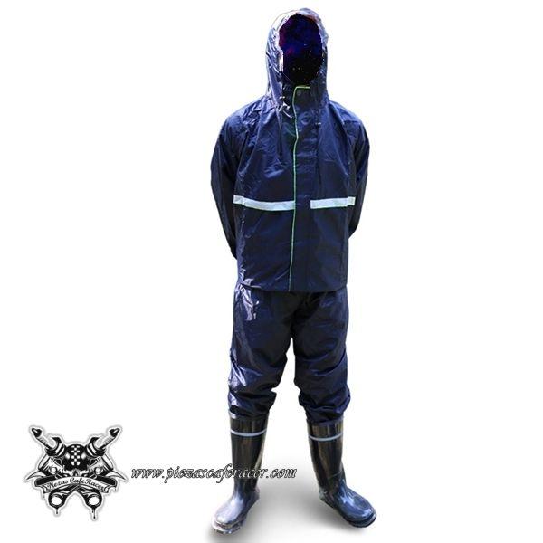 Chubasquero de Moto Para Piloto Impermeable para Lluvia Pesada Color Azul -- 24,67€