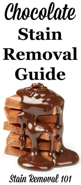 Chocolate stain removal guide for clothes, upholstery and carpet {on Stain Removal 101}