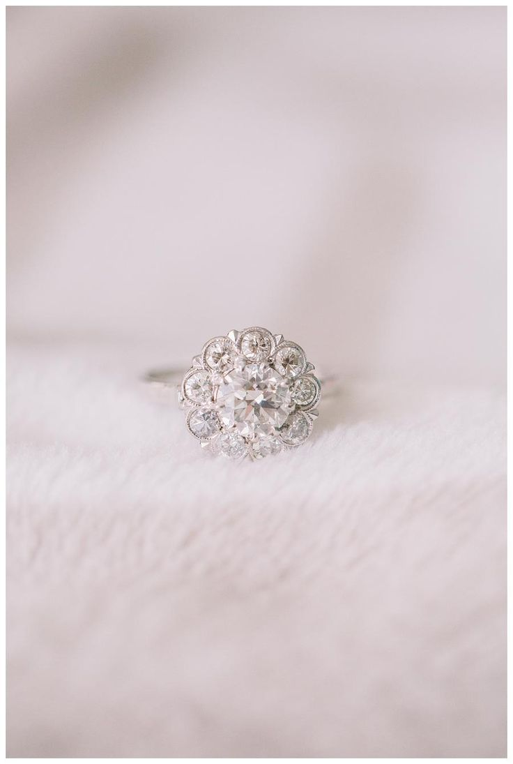 Vintage diamond engagement ring from Trumpet & Horn, image by Sam Stroud Photography.
