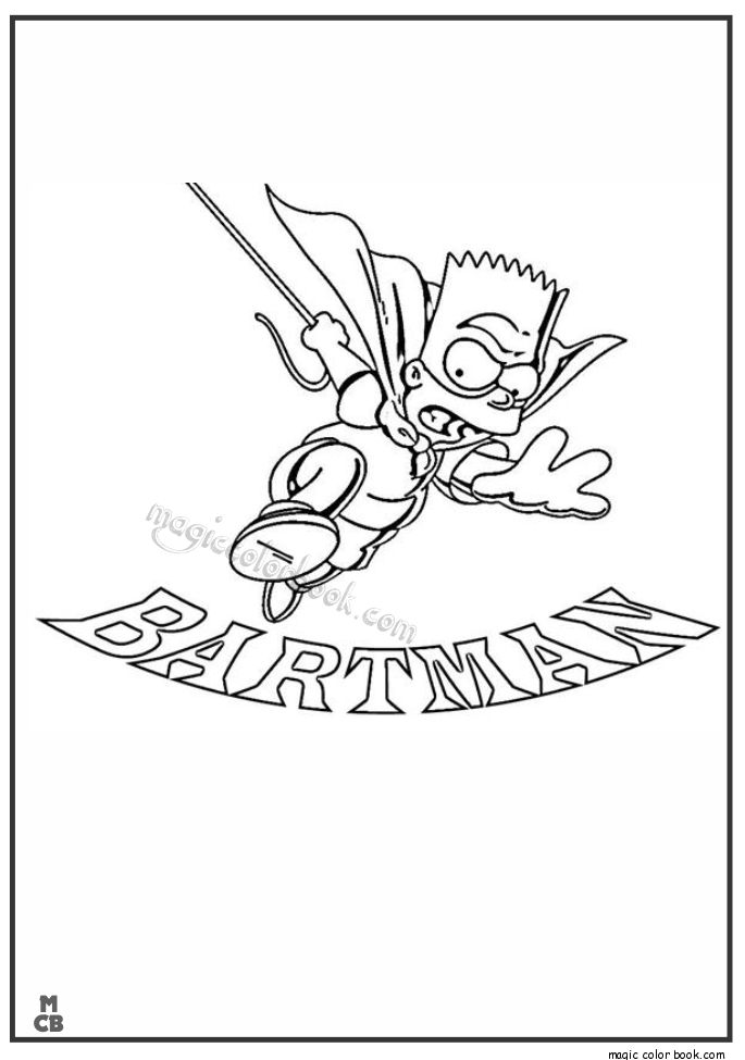 simpsoms coloring pages 02 - Simpsons Halloween Coloring Pages