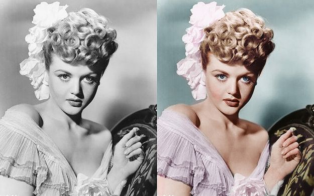 Angela Lansbury. | 12 Beautifully Re-Coloured Vintage Pictures Of Celebrities