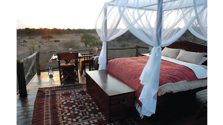 Lion Sands, Ivory Lodge Kruger National Park South Africa. Private pool, telescope on your deck and a treehouse in the bush for secluded suppers