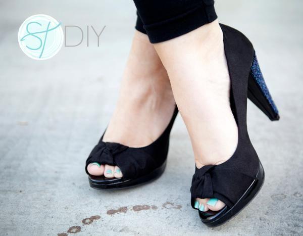 DIY Heels Ideas : DIY beaded high heels!