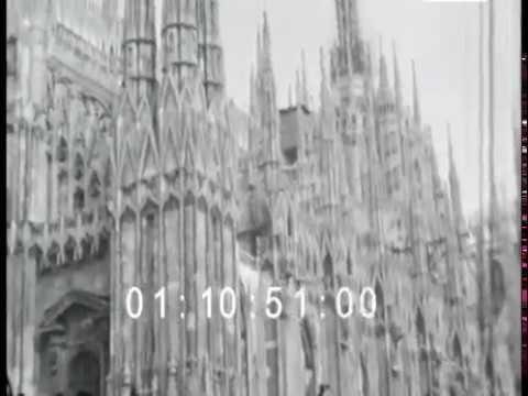 Milano Duomo vintage video 1943s - YouTube