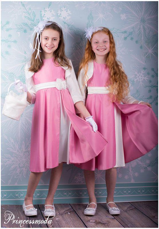 LOUISE - Perfektes Festkleid inkl. Bolero für kleine Damen! - Princessmoda - Alles für Taufe Kommunion und festliche Anlässe