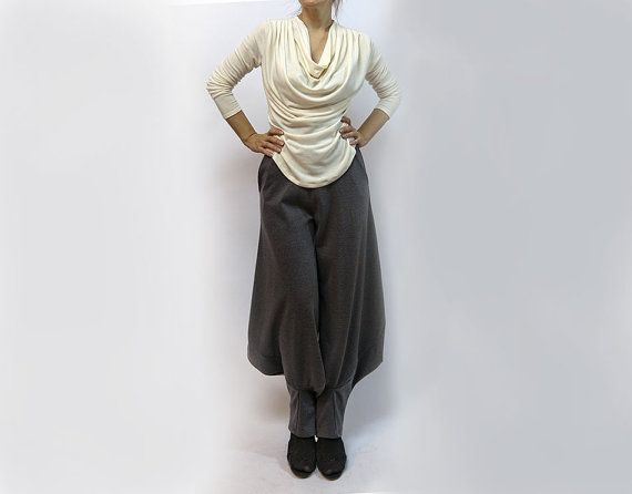 blouseoff white blouseknitted blouselong by AnnaPerena on Etsy, $60.00