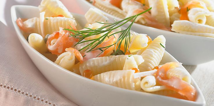 Pâtes au saumon et à l'aneth