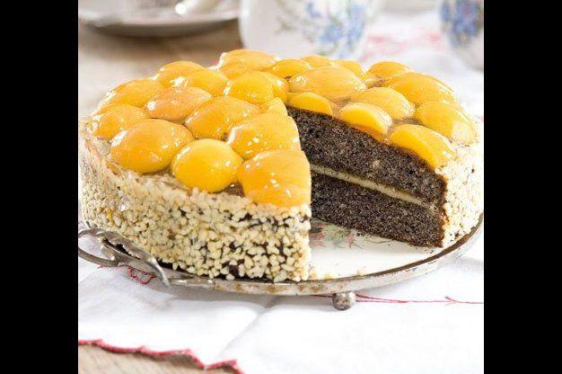 Makový koláč s meruňkami   Apetitonline.cz