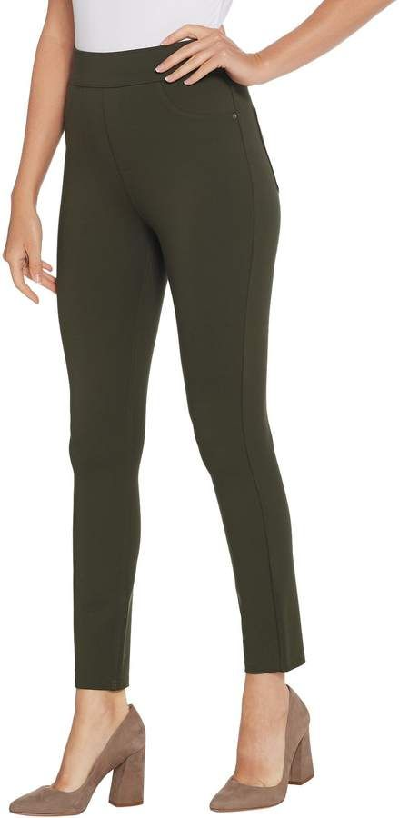 63a0ba46bcfc42 Spanx Ponte Ankle-Length Leggings - Tall Available Colors: Deep Olive  ,Pepper Grey ,Brandywine ,Very Black ,Port Navy Available Sizes: Tall Large  ,Tall ...