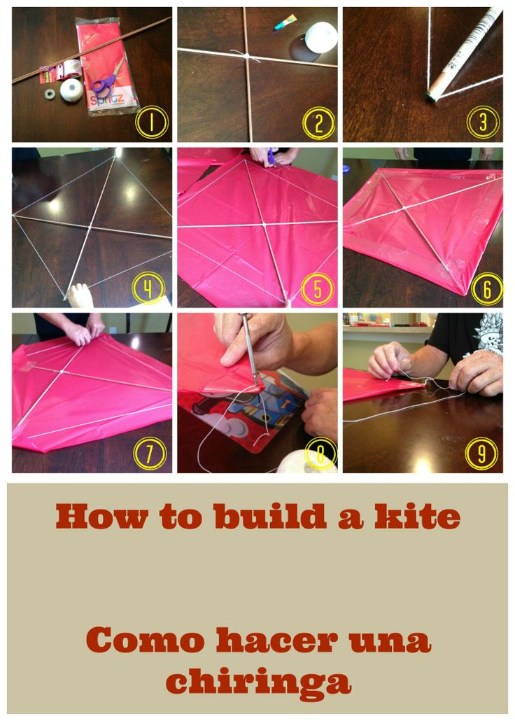 how to build a kite step by step