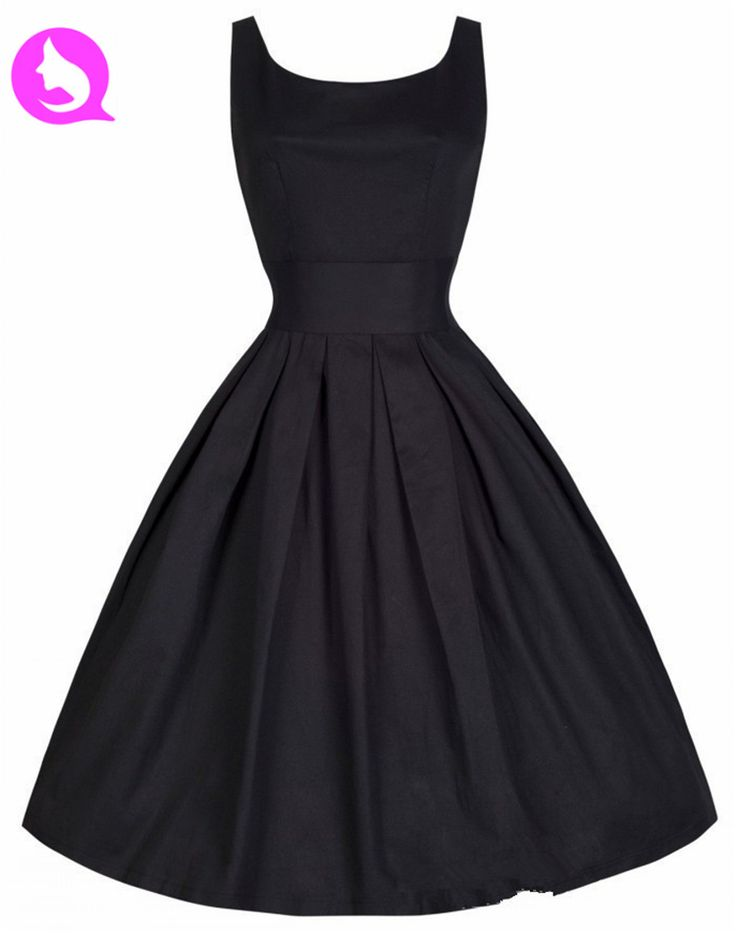 Encontrar Más Vestidos Información acerca de 2015 nuevo envío gratis Audrey Hepburn verano Vestidos mujeres negro Retro Casual traje del partido vestido Vintage Rockabilly Qi 1913, alta calidad Vestidos de Qimima Group Co . Ltd en Aliexpress.com