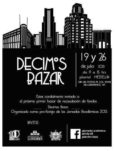 Te invitamos a asistir al Bazar que se llevará acabo los días 19 y 25 de Julio en el Plantel Medellín.
