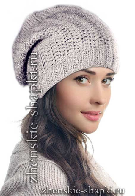 Простая шапка крючком описание вязания для женщин