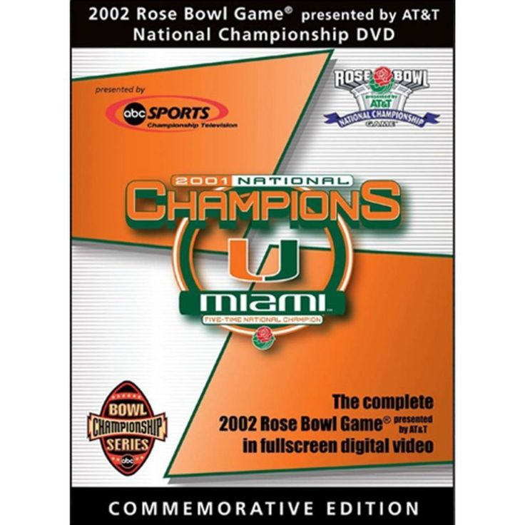 2002 Rose Bowl Game: Miami Hurricanes vs. Nebraska Cornhuskers DVD, Team