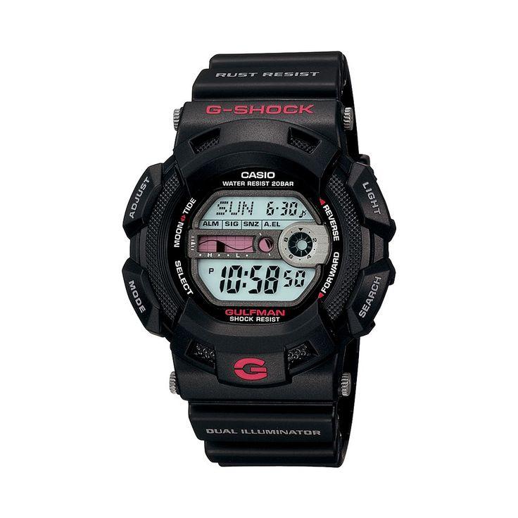 Casio Men's G-Shock Gulfman Digital Chronograph Watch - G9100-1, Black