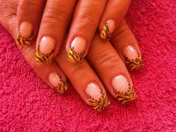 uñas otoñales acrílicos (organic nails)