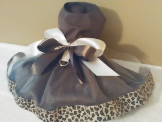 Chocolate Cheetah Fancy Dress by bellasfancywardrobe on Etsy