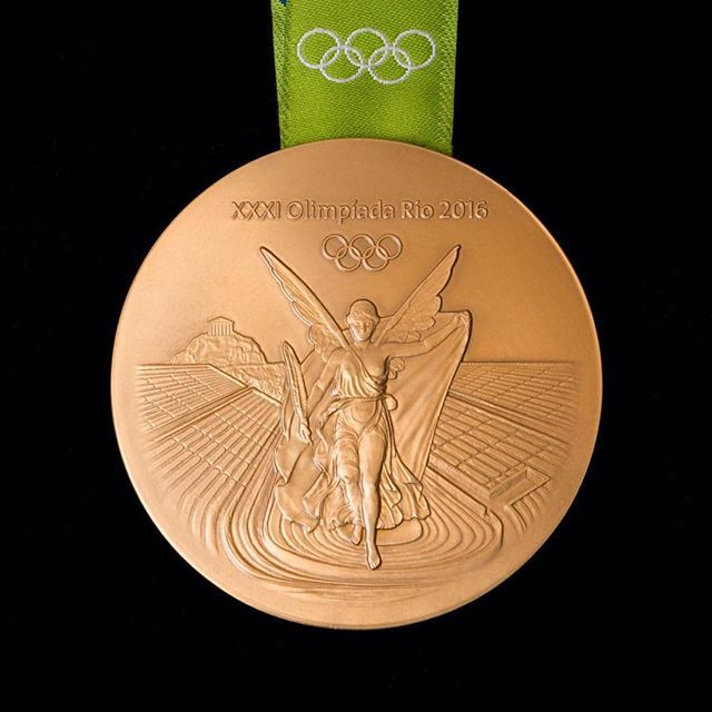 Rio 2016: Olympic Games medals revealed! One of the  most unforgettable moments of my life.  Designing the front side of the Olympic medals.  The Nike, the Greek goodness of victory, the Panathinaiko Stadium and the Acropolis, ready to accompany the top athletes of the world.  #elenavotsi #Olympicmedals #Rio2016 #lifo #Olympicgames #Akropolis #athensvoice #art #Goldmedals #Gold #silver #games #athletes #victory #Greece #Rio #Brasil  #Olympics2016