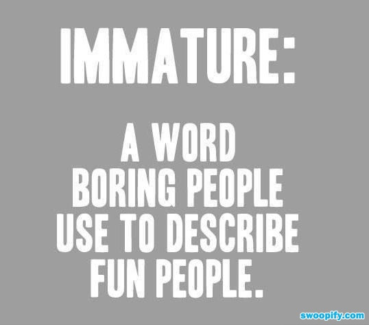 "Isnt this the truth!  :)  My aunt just told me I was ""immature"" because I was telling my 12yr old niece how we need some bacon band aids :)"