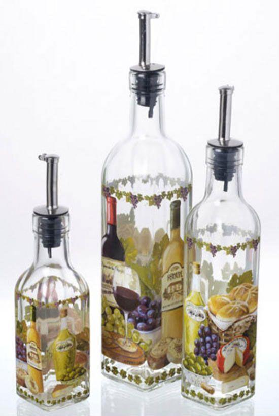 How To Make Decorative Vinegar Bottles 18 Best Decorative Wine Bottles Images On Pinterest  Decorated