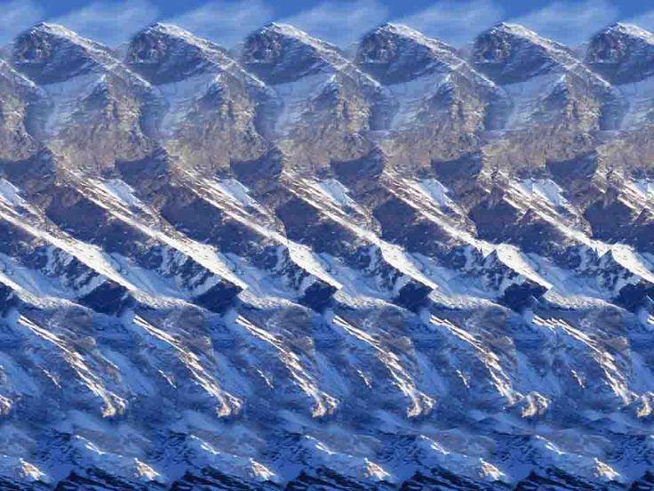 Black n blue dress illusion 3d