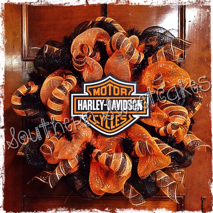Harley Davidson Wreath!