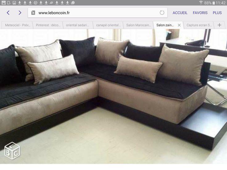 Les 16 meilleures images propos de meubles salon sur for Canape orientale
