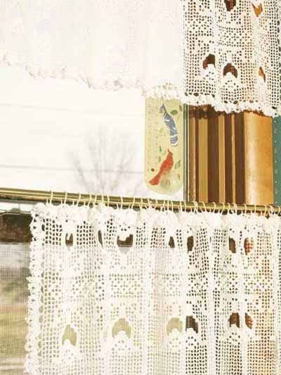 Tulip Lace Curtain and Valance - Free Pattern