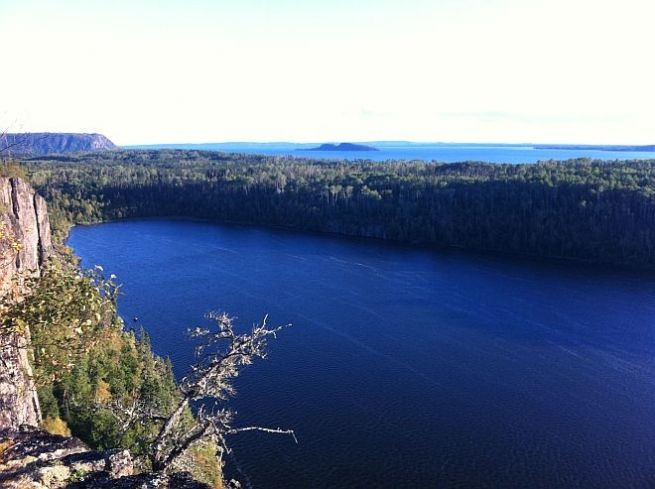 A breathtaking view of Lake Superior at Ruby Lake just east of Nipigon