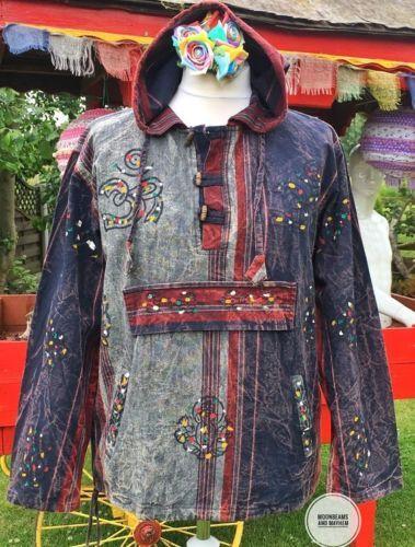 NEW-HIPPIE-UNISEX-SHIRT-HOODIE-FESTIVAL-CLOTHING-UK-SIZE-14-MENS-MEDIUM-MED